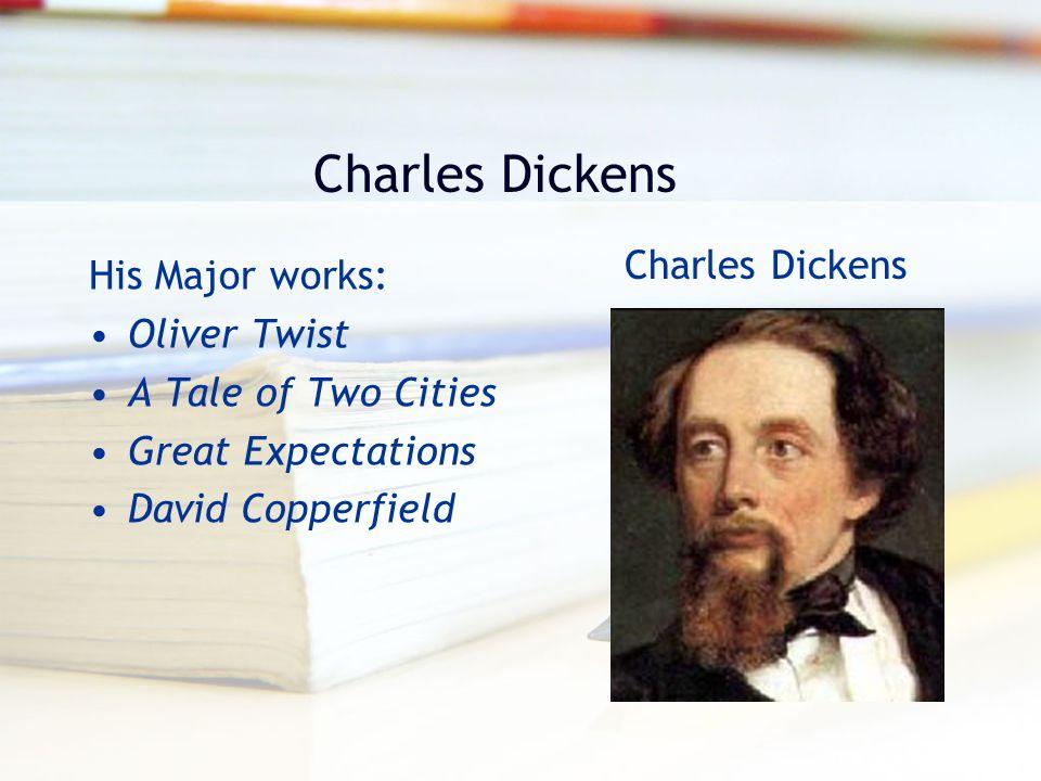Charles Dickens Charles Dickens His Major works: Oliver Twist