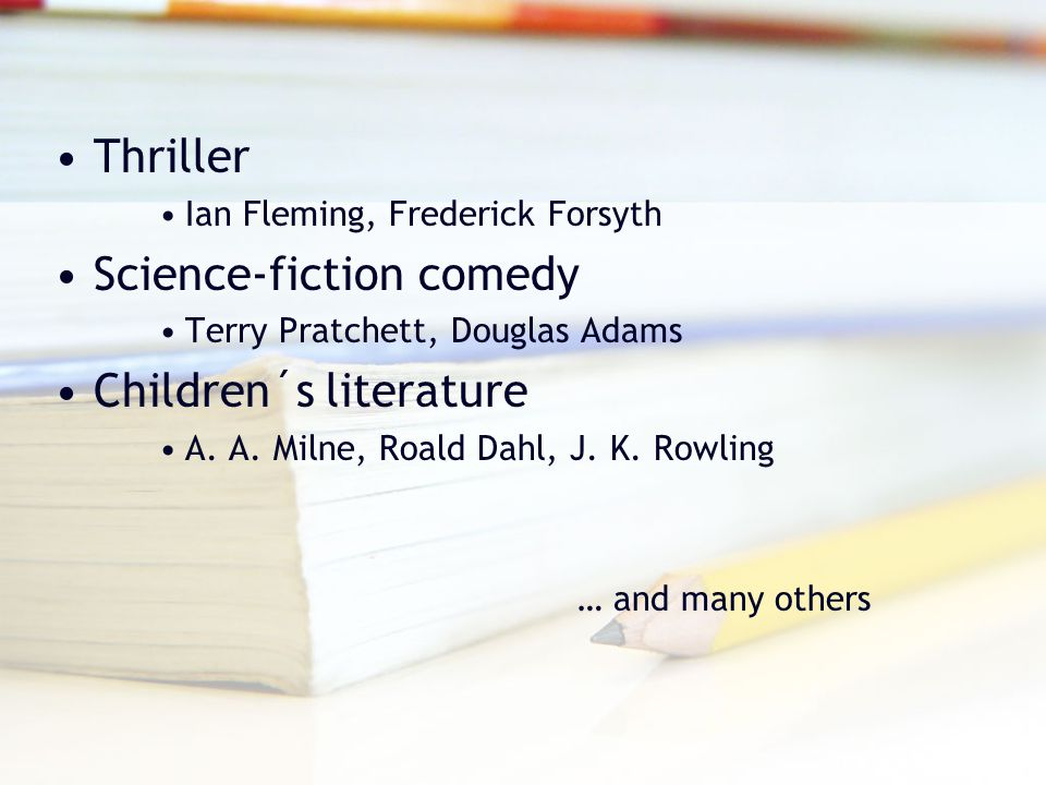 Science-fiction comedy Children´s literature