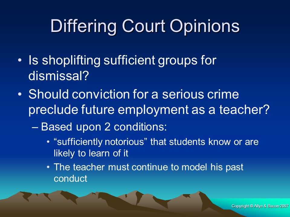 Differing Court Opinions
