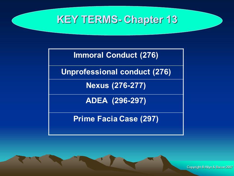 Unprofessional conduct (276)