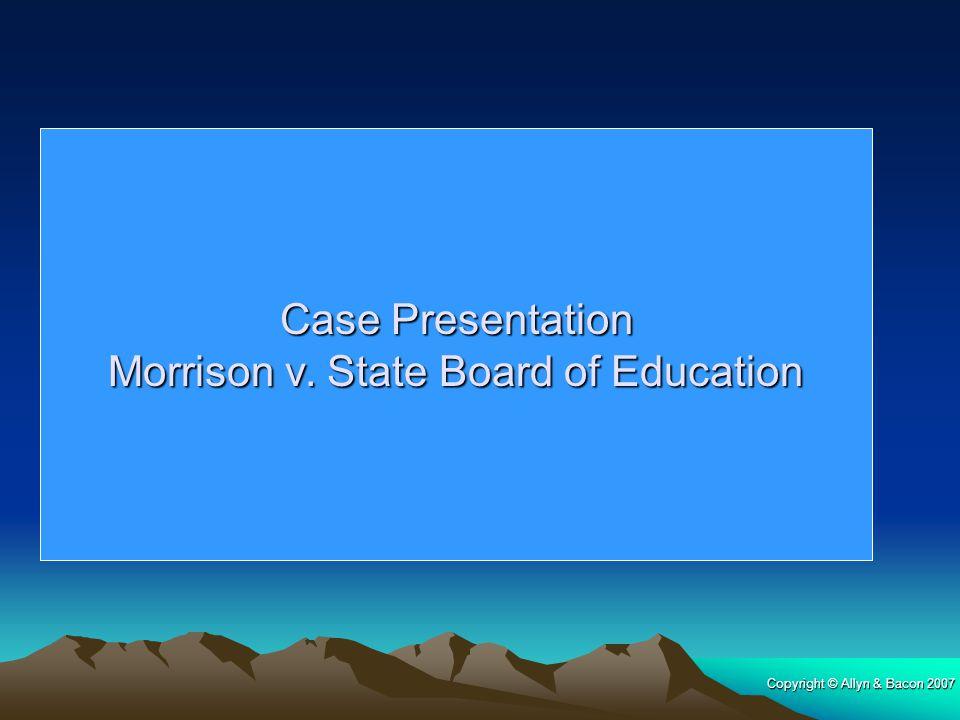 Morrison v. State Board of Education