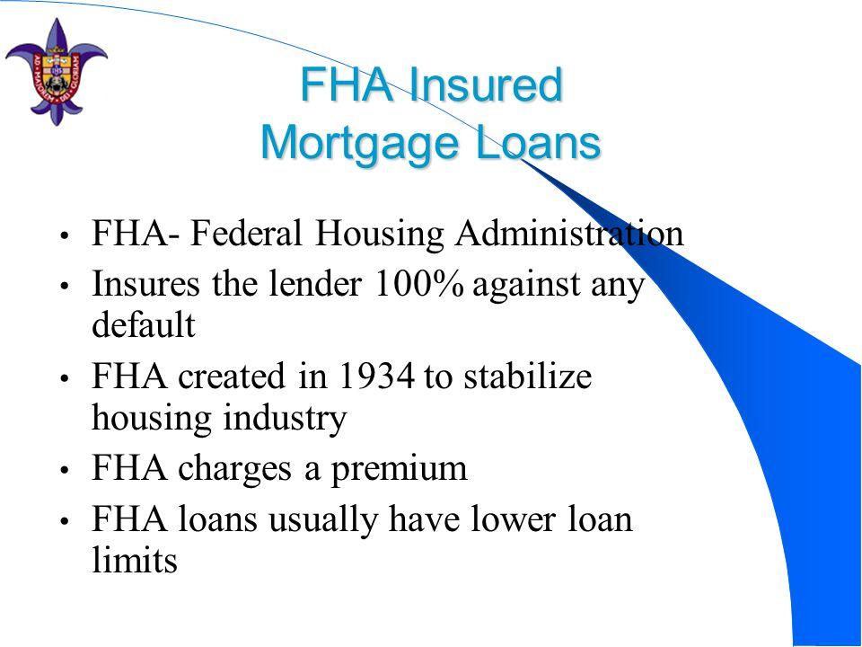 FHA Insured Mortgage Loans