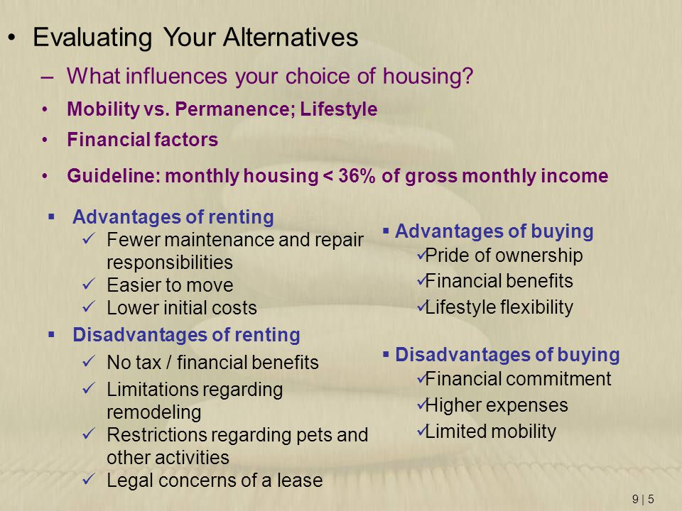Evaluating Your Alternatives