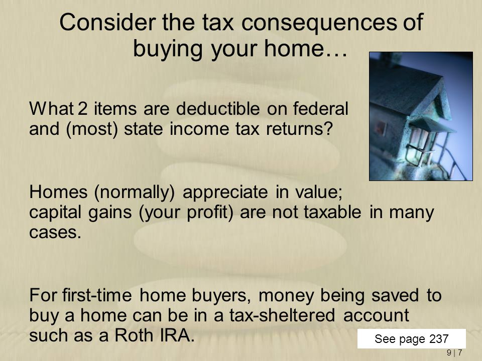 Consider the tax consequences of buying your home…