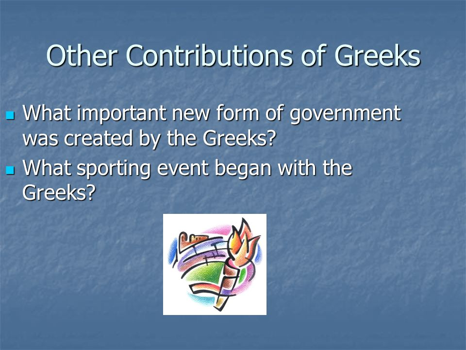 Other Contributions of Greeks