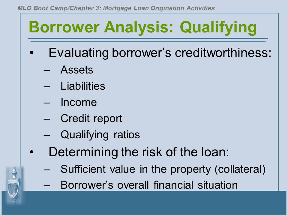 Borrower Analysis: Qualifying