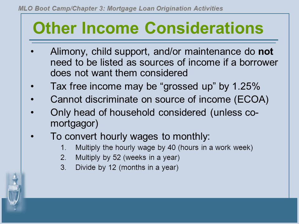 Other Income Considerations