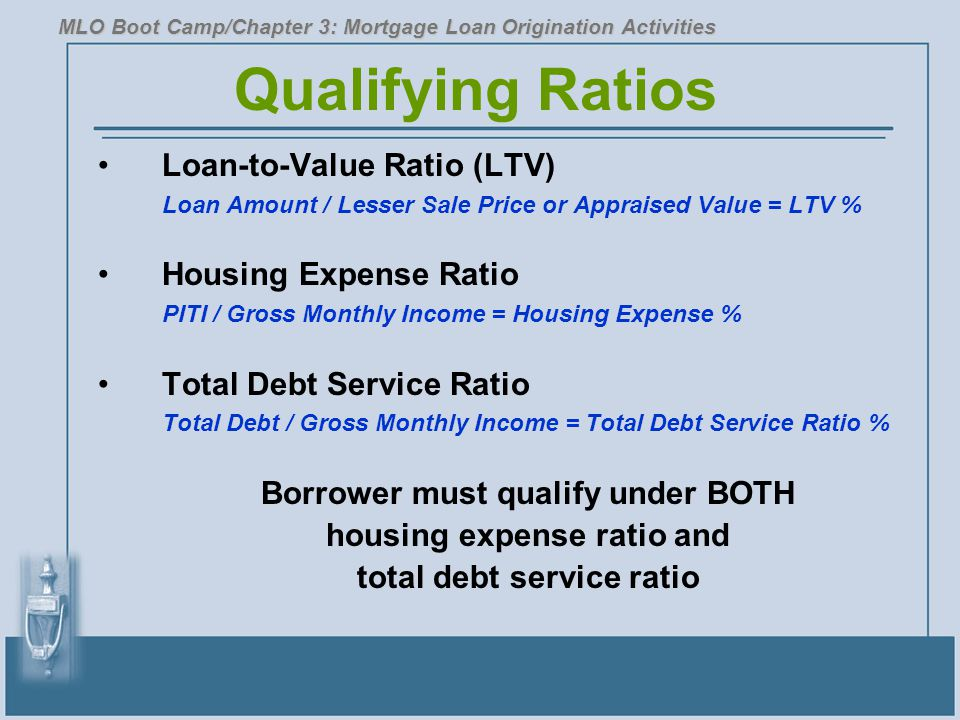 Borrower must qualify under BOTH housing expense ratio and