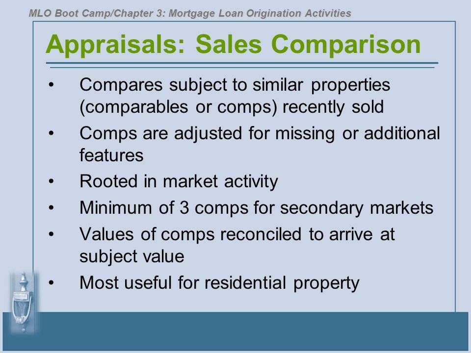 Appraisals: Sales Comparison