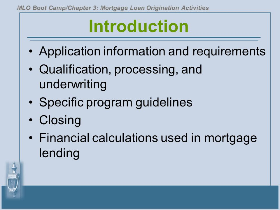 Introduction Application information and requirements