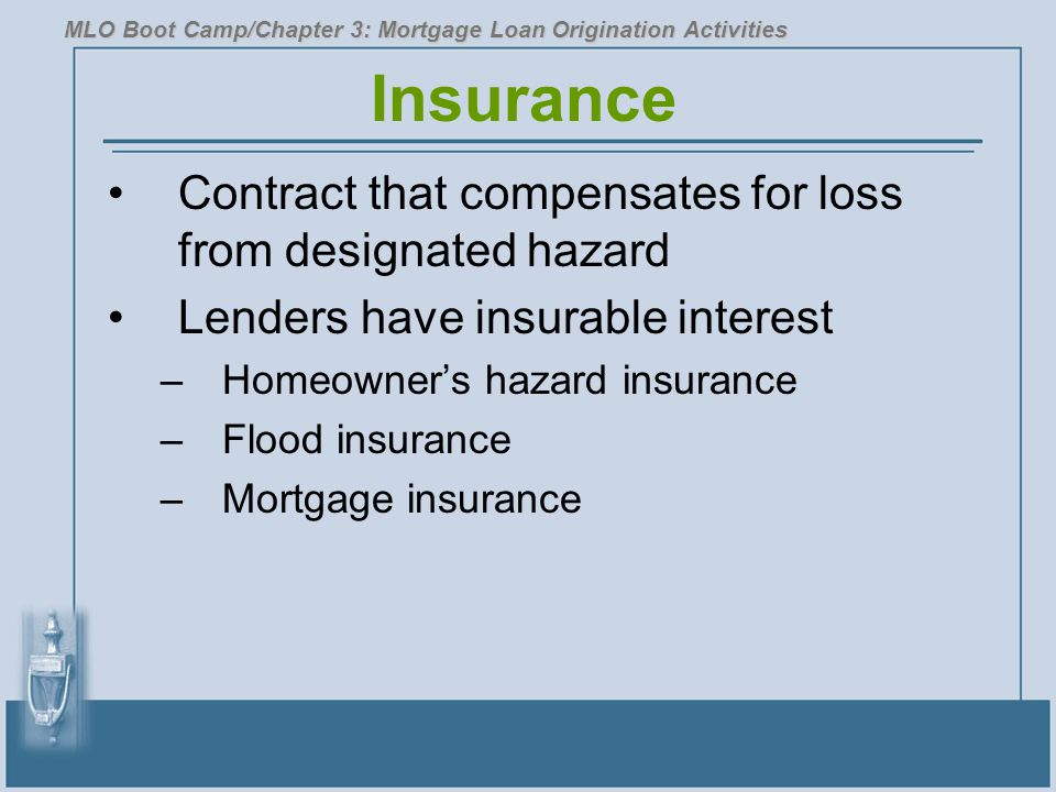 Insurance Contract that compensates for loss from designated hazard