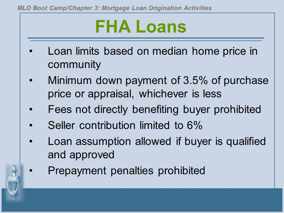 FHA Loans Loan limits based on median home price in community