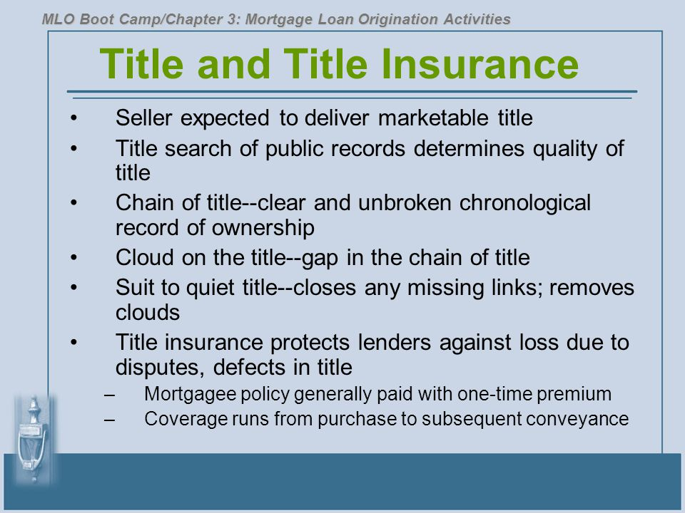 Title and Title Insurance