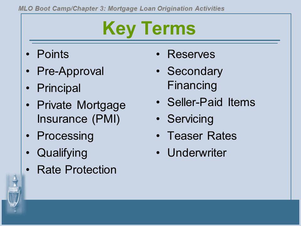 Key Terms Points Pre-Approval Principal