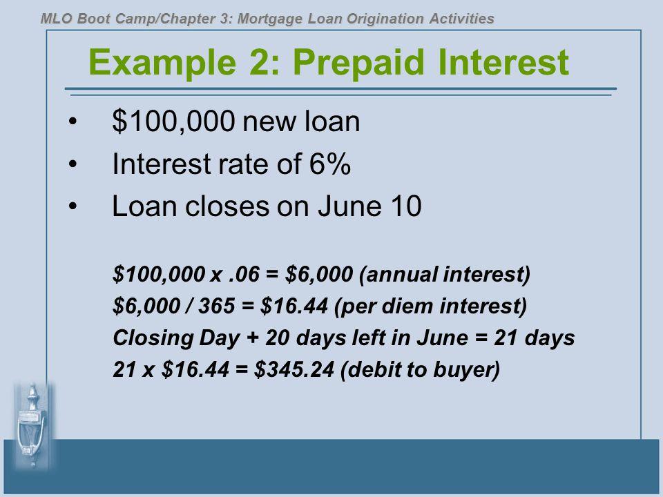 Example 2: Prepaid Interest
