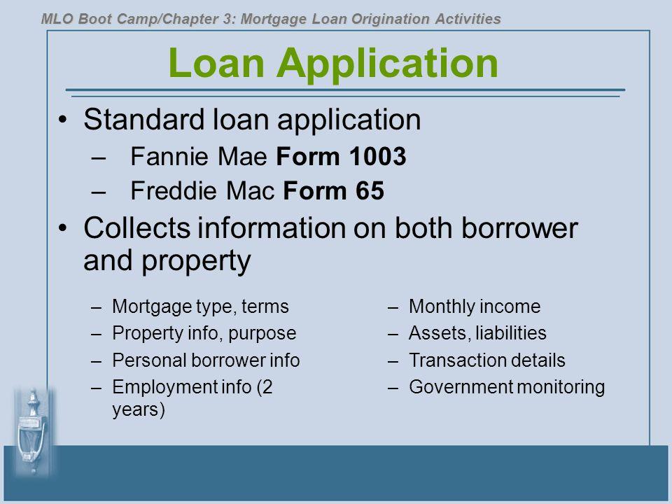 Loan Application Standard loan application