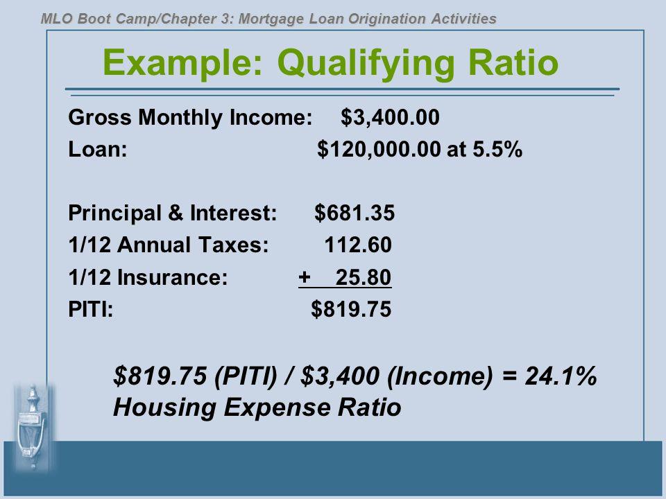 Example: Qualifying Ratio