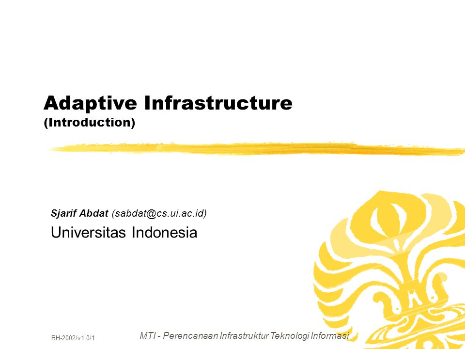Adaptive Infrastructure (Introduction)