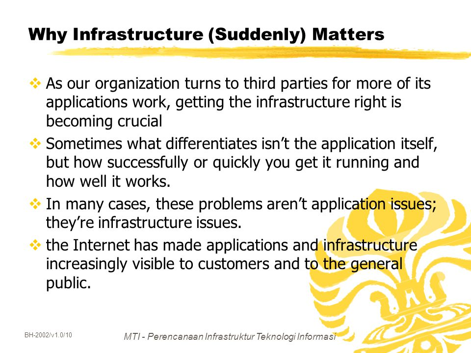 Why Infrastructure (Suddenly) Matters