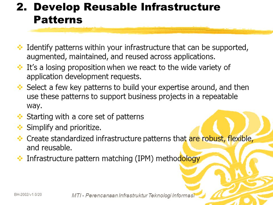 Develop Reusable Infrastructure Patterns