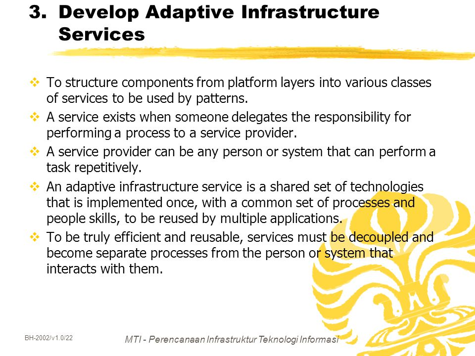 Develop Adaptive Infrastructure Services