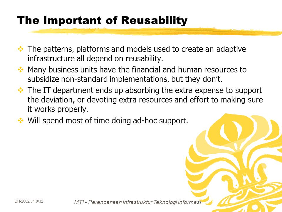 The Important of Reusability