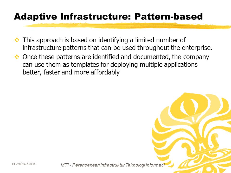 Adaptive Infrastructure: Pattern-based
