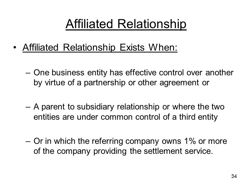 Affiliated Relationship
