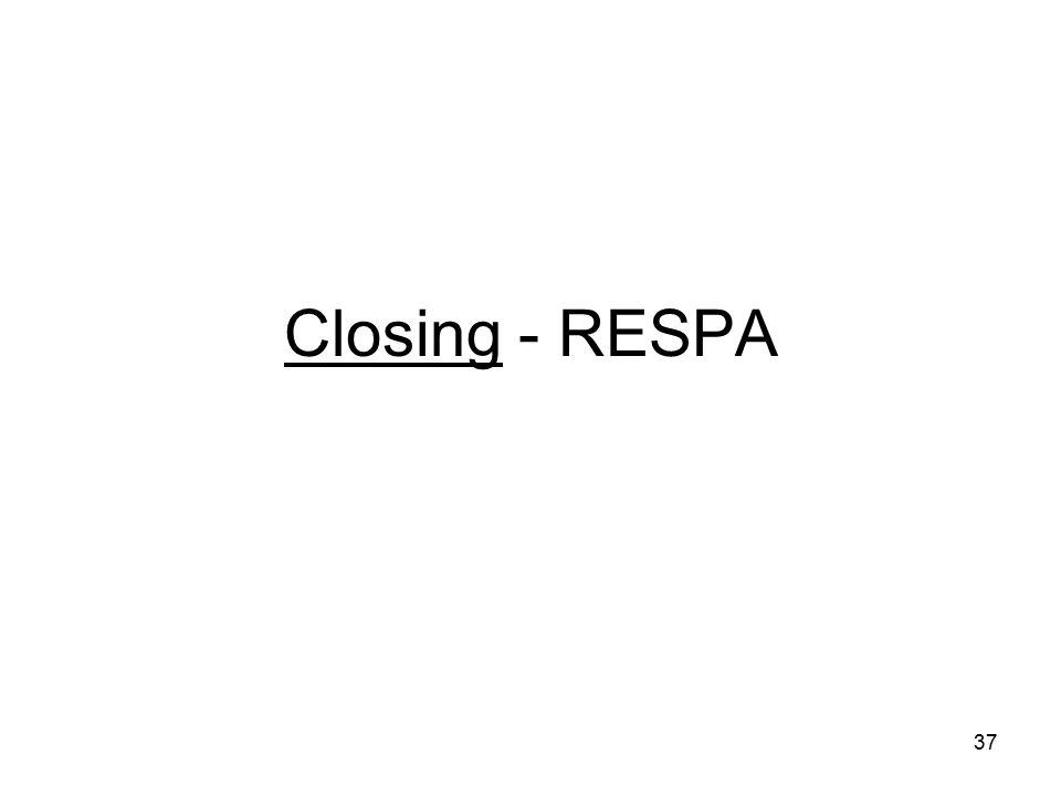 Closing - RESPA