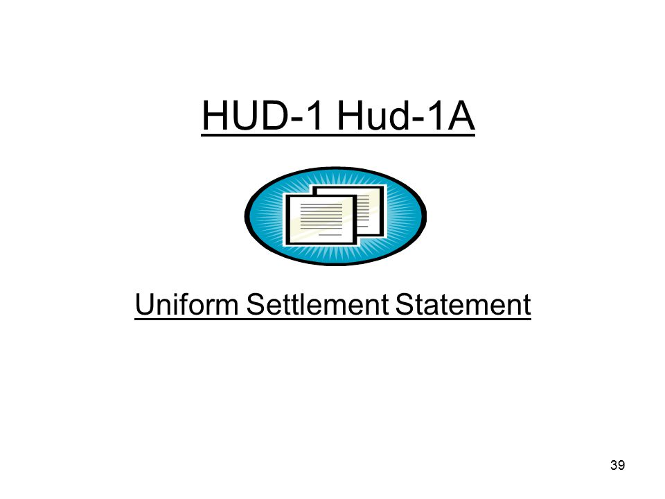 Uniform Settlement Statement