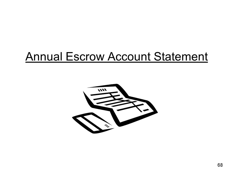 Annual Escrow Account Statement