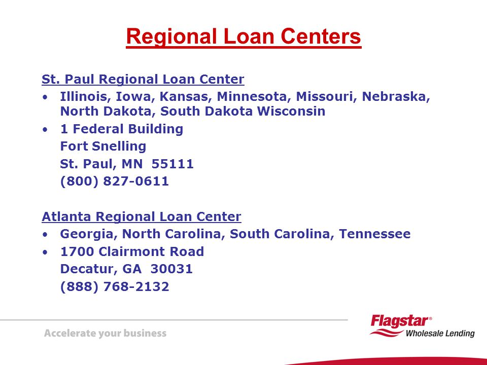 Regional Loan Centers St. Paul Regional Loan Center