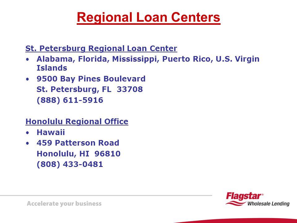 Regional Loan Centers St. Petersburg Regional Loan Center