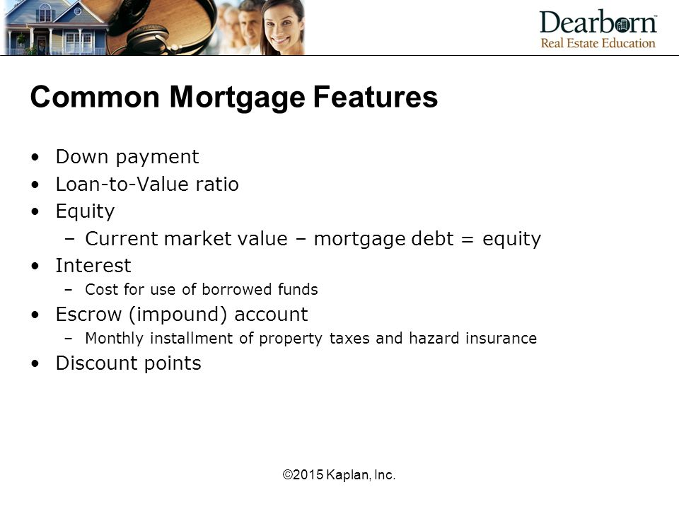 Common Mortgage Features