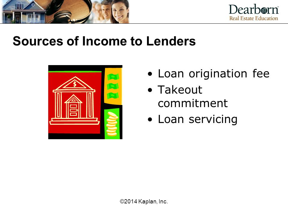 Sources of Income to Lenders
