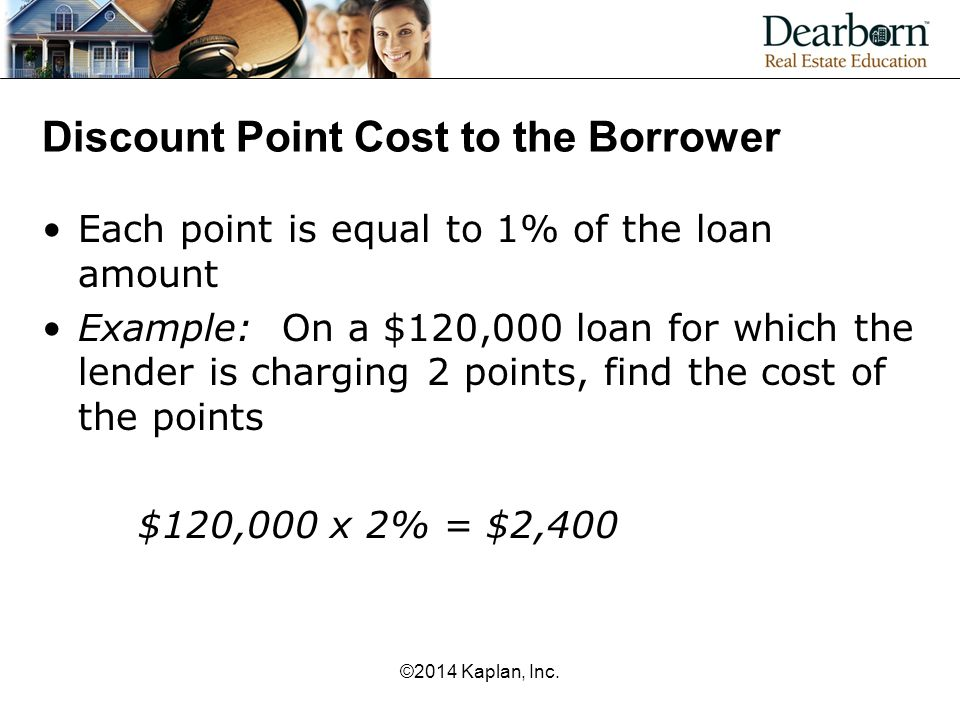 Discount Point Cost to the Borrower