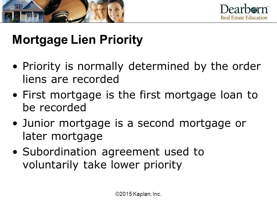 Mortgage Lien Priority