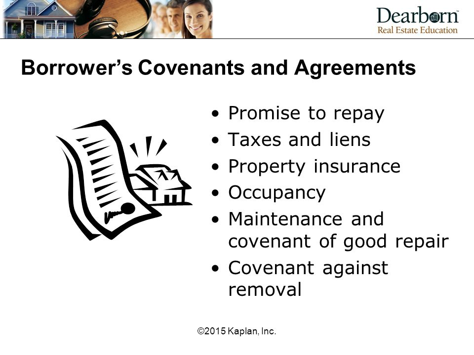Borrower's Covenants and Agreements