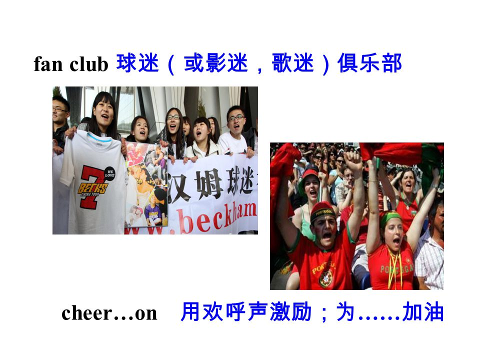 fan club 球迷(或影迷,歌迷)俱乐部