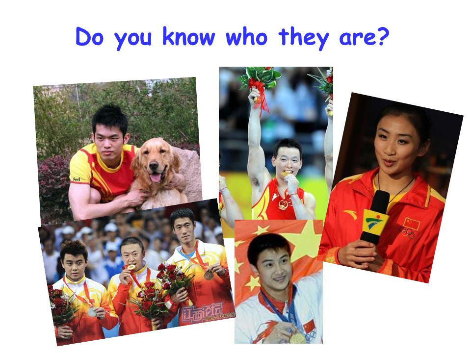Do you know who they are