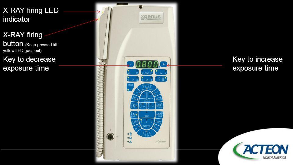 X-RAY firing LED indicator