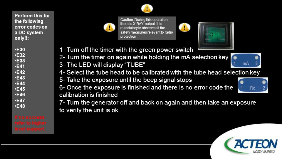 1- Turn off the timer with the green power switch