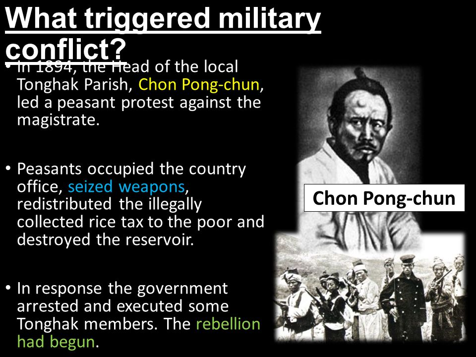 What triggered military conflict