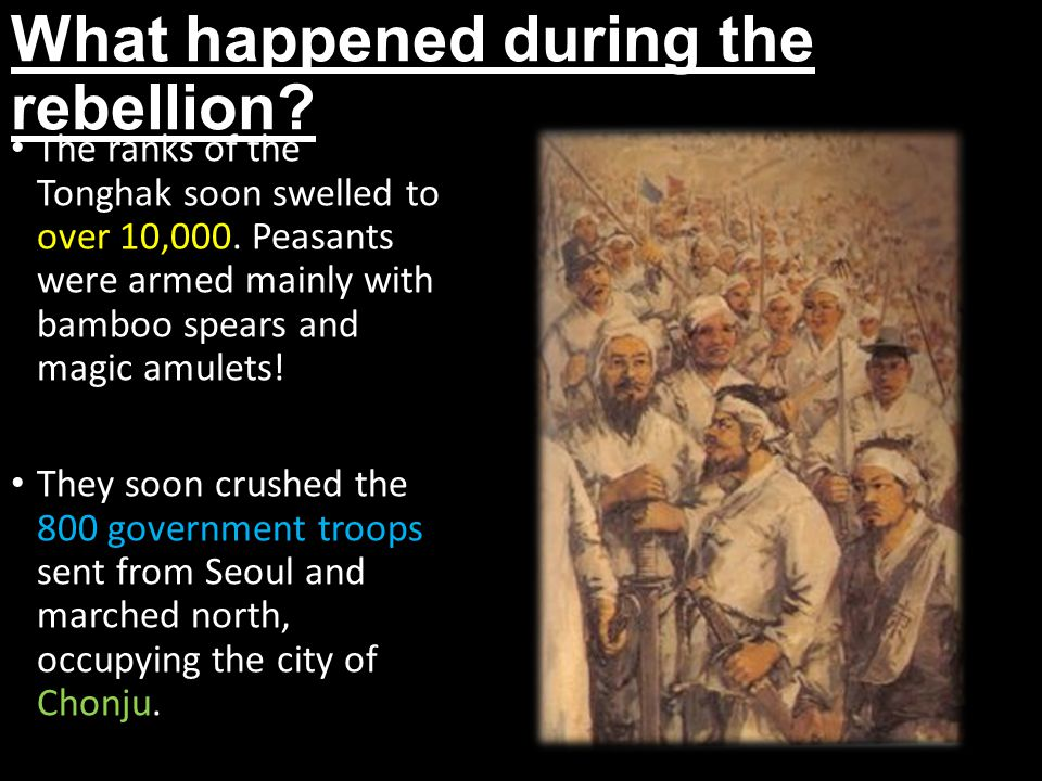 What happened during the rebellion