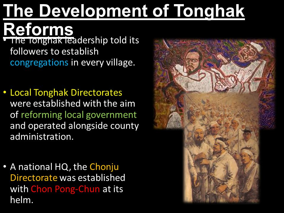 The Development of Tonghak Reforms