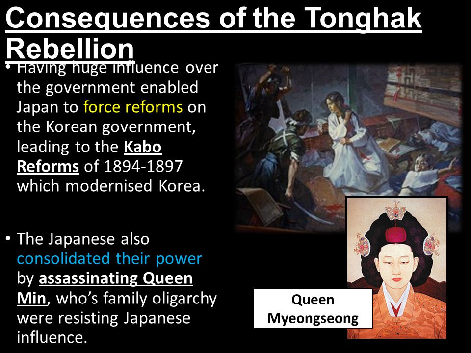 Consequences of the Tonghak Rebellion