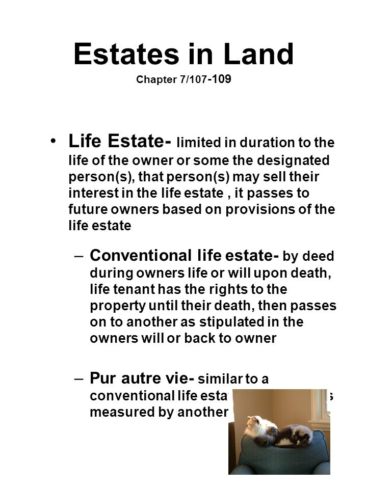 Estates in Land Chapter 7/107-109