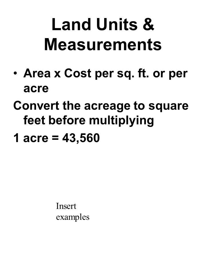 Land Units & Measurements