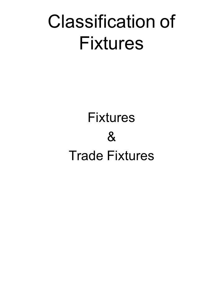 Classification of Fixtures