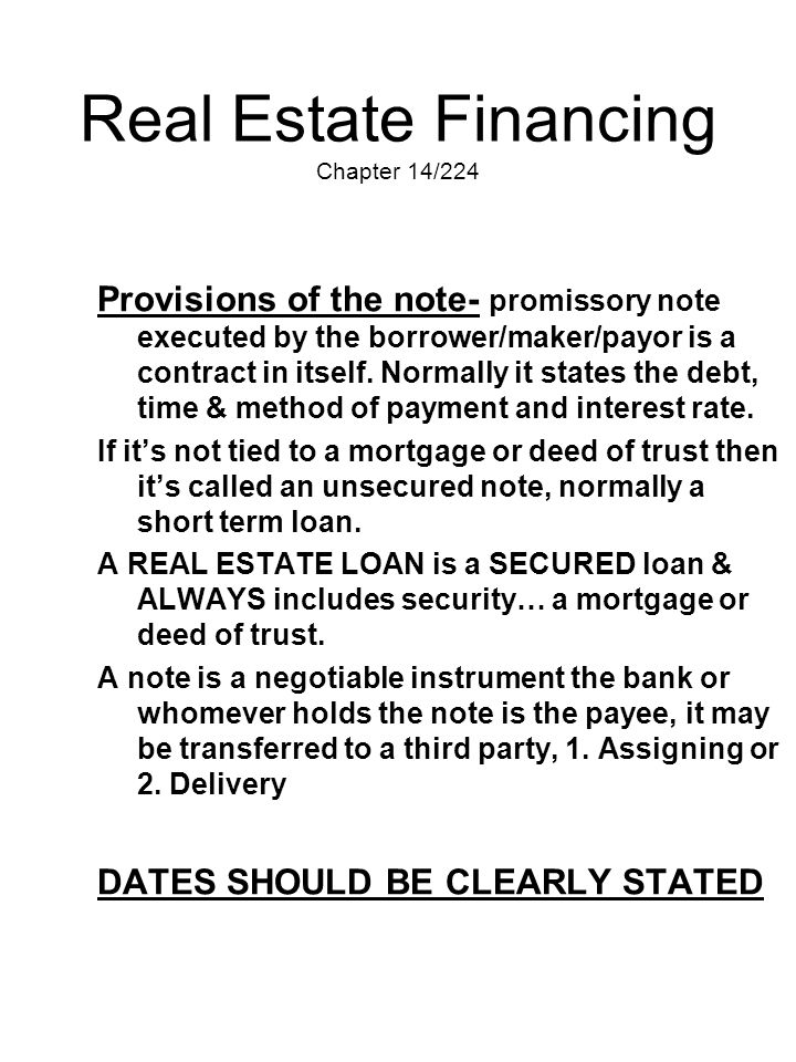 Real Estate Financing Chapter 14/224